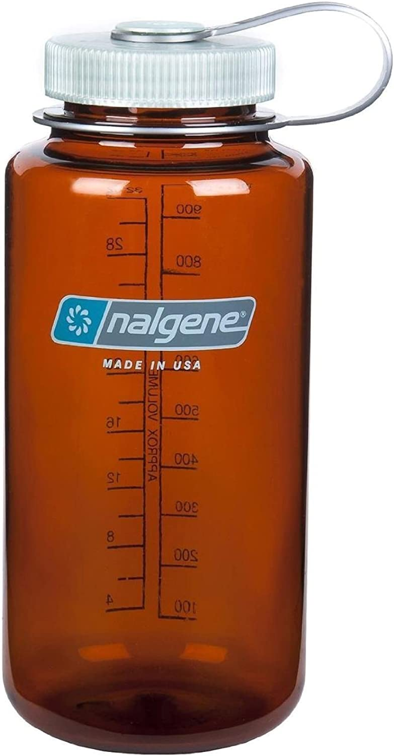 Nalgene Wide Mouth Water Bottle, Rustic orange  32 Oz