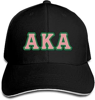 Alpha Kappa Alpha Classic Women Men Adjustable Baseball Caps Plain Cap Dad Hat Trucker Hat Black