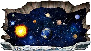 Toyvian 3D Wall Sticker Removable Universe Planet Art Sticker for Bedroom Living Room