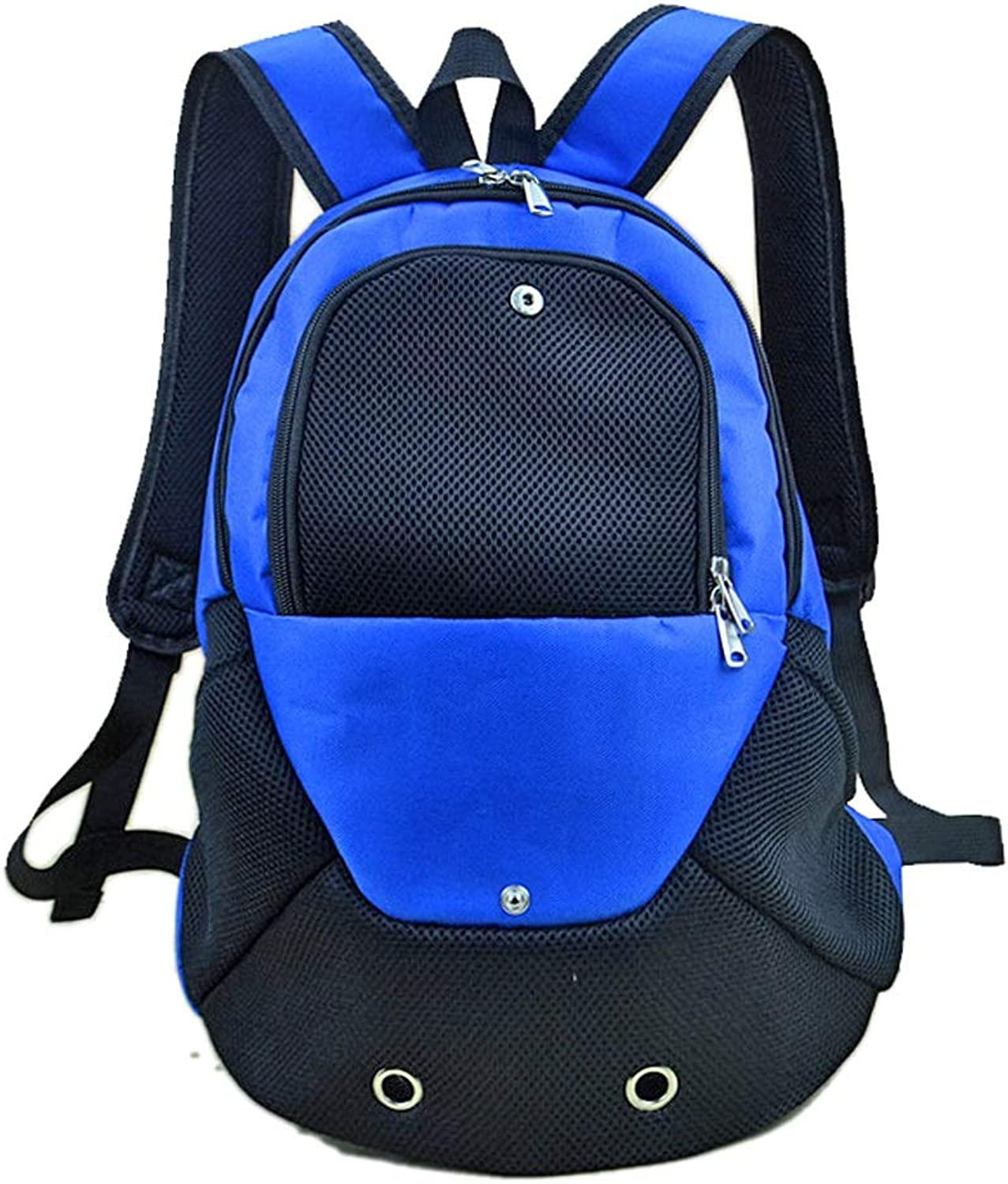Comfortable Pet Travel Bag Folding Pets Kitten Cat Carriers Bags,Suitable for Puppy, Small Dogs, and Cats for Outdoor Travel (color   bluee)