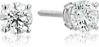 IGI-Certified 14k Gold Round-Cut Diamond Stud Earrings (1/4 - 3 cttw, H-I Color, I1 Clarity)
