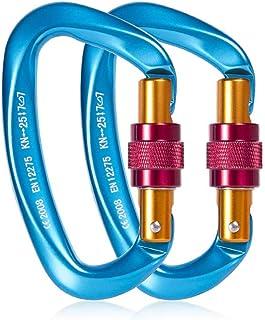 LCM Grabber Corda per Attrezzature per Arrampicata Grabber Corda Mobili per Protezione Caduta del Materiale Alpinistico Esterna Autobloccante Dispositivo Anticaduta Giallo, 100Kg