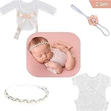 newborn girl lace rompers