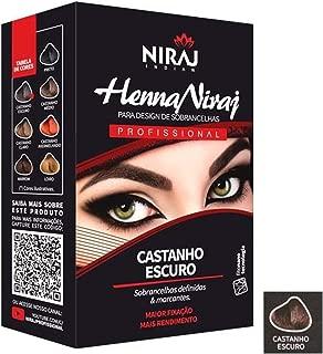 Niraj Henna Para Sobrancelha 3,5GCastanho Escuro