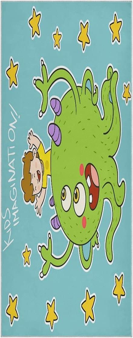 FVFV Cartoon Green Octopus Yoga Towel Non Od Soft Free Regular discount Shipping New Super Mat Slip