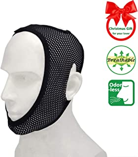Chin Strap for Cpap Users, Most Comfortable Mesh Breathable Anti Snoring Devices Cpap Chin Strap for Snoring Stop Snoring Solution Anti Snoring Chin Strap Snore Strips Snore Stop Anti Snore Stopper