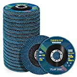 Simniam 20 Pack Flap Discs 4.5' x 7/8', High Density T29 Zirconia Grinder Wheel 40/60/80/120 Grits Assorted Cutting Off Wheels Flap Sanding Disc Perfect for DIY Hobbyists