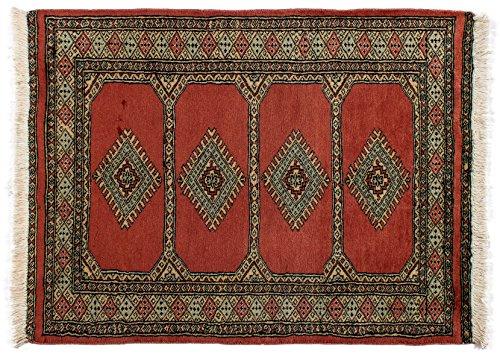 Lifetex.eu Buchara Pakistan Tapis en laine vierge Rouge Env. 80 x 105 cm