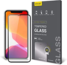Olixar for iPhone 11 Pro Max Screen Protector Full Coverage - Tempered Glass - 9H Rated - Shock Protection - Easy Application, Card and Cleaning Cloth Included