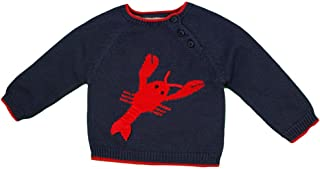 Zubels 100% Hand-Knit Larry The Lobster Sweater All Natural Fibers