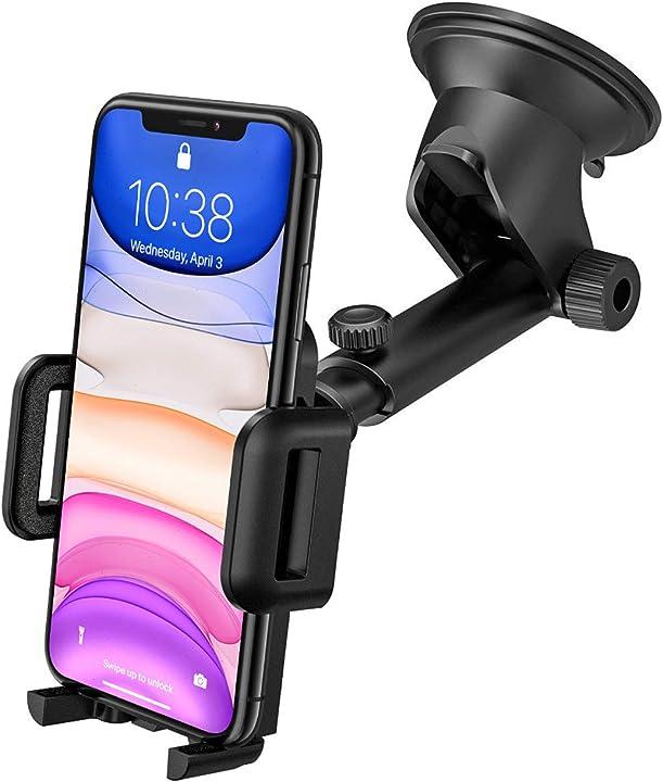 Supporto smartphone ventosa per auto con regolabile clip per cruscotto e parabrezza wowteez B097MCN1D9