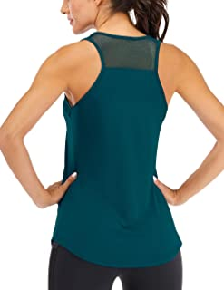 ICTIVE Women's Workout Tank Tops Breathable Mesh Backless Tank Yoga Tops