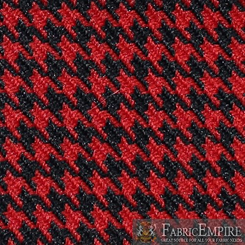 "Houndstooth Automotive Retro Headliner Material & Upholstery Fabric 57"" Wide Sold by The Yard … (7298921 Racing Red)"