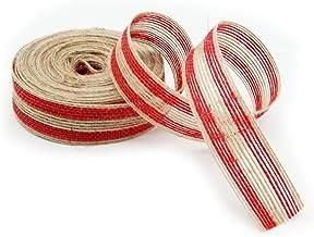 PIXNOR M cm Premium Quality Burlap Jute Craft Ribbon Red