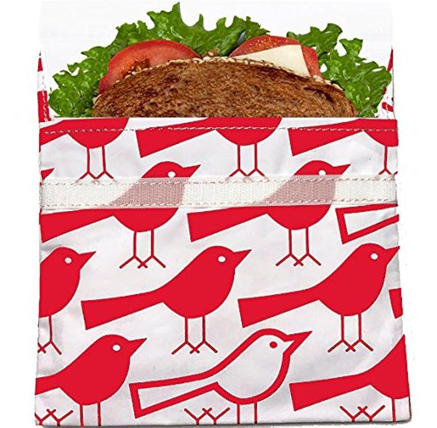 チケット白雪姫大きさLunchskins Reusable Sandwich Bag, Red Bird by LunchSkins