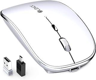 マウス BLENCK ワイヤレスマウス 充電式 2.4GHz 3DPIモード 光学式 高感度 小型 静音 省エネルギー Mac/Windows/surface/Microsoft Proに対応 技適認証取得済み (ホワイト)