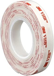 3M VHB 4920 Acrylic Adhesive Tape - 0.5 in. x 15 ft. Pressure Sensitive Double-Sided Tape Roll for High Surface Energy Substrates