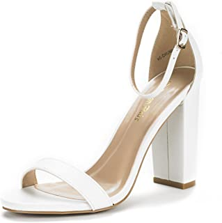 white heels thick heel