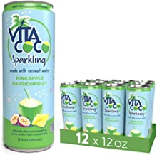 Vita Coco Sparkling Coconut Water, Pineapple Passionfruit, Low Calorie Naturally Hydrating Electrolyte Drink - Smart Alternative to Juice, Soda, and Seltzer, Gluten Free, 12 Fl Oz, Pack of 12