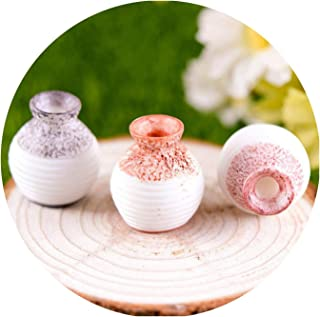 Resin Miniature Small Mouth Vase DIY Craft Accessory Home Garden Decoration Accessories,A