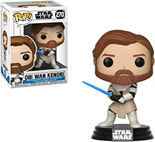 Funko pop 31796 Bobble Star Clone Wars OBI Wan Kenobi, Multi