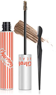 4D Charming Tinted Eyebrow Gel, Cilrofelr Waterproof Eyebrow Gel with Spoolie Brush & Eyebrow Razor, Long Lasting, Non-Sti...