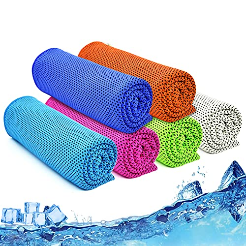 """Cooling Towel, 40""""x12"""", Ice Towel, Microfiber Cooling Towels for Neck and Face Athletes, Instant Cooling Chilly Towels -UPF 50+ Cooling Ice Towels for Sports, Workout, Fitness, Gym, Yoga, Camping"""