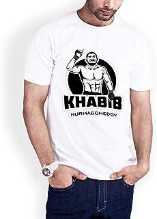 Casual Printed T-Shirt for Men, The hero Habib Mammadov 02, White