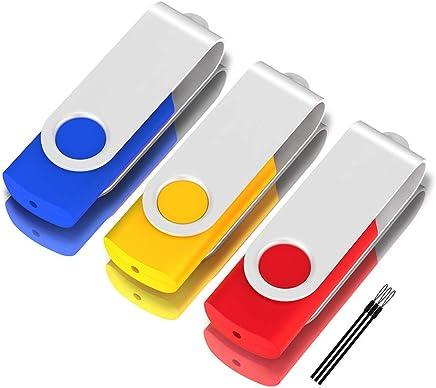 TPSON 5 Piezas Memoria USB 16GB Flash Drive USB 2.0 PenDrive Almacenamiento Externo Colores Mezclados, 16GB * 5PCS