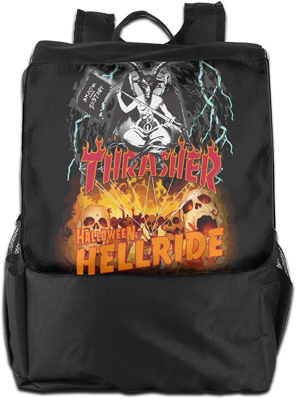 9015a0b19334 Aqlin Lewig Thrasher Halloween Hellride Multipurpose School Backpack ...