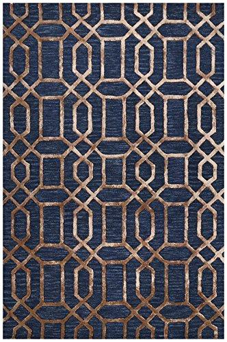 Bakero Vegas, Viskose, Wool, Dunkelblau, 183 x 122 x 1.5 cm