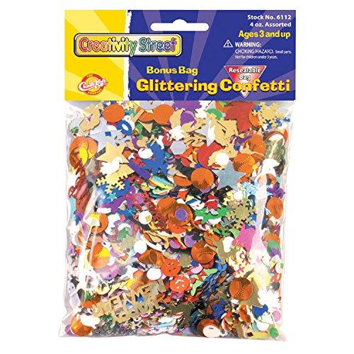 Glittering Confetti 4oz-Assorted Styles & Colors
