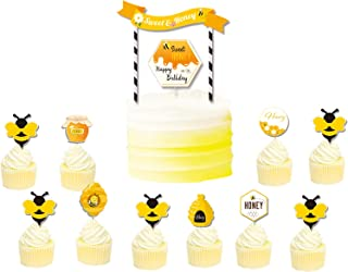 Bee Cake Toppers Sweet Honey Cupcake Topper Kits Gender Reveal Party Decorations Desserts Supplies for Baby Shower Bee The...