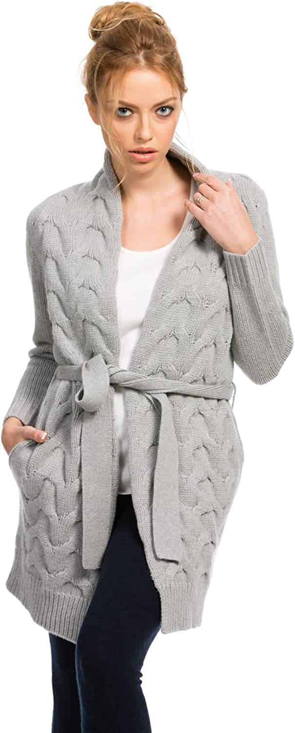Citizen Cashmere Cable Knit Cardigan Sweaters for Women - Long Cardigan