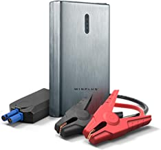 Winplus Power Bank Jump Starter - 8000mAh Portable Power Bank Phone Charger and Car Battery Jump Starter with Built-in LED Flashlight and Carrying Case – 12V Pocket Jumper