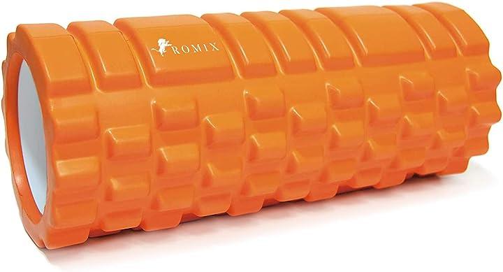 rullo massaggio muscolare, foam roller per esercizio e trigger point terapia alta densita RM-0004-FR-ORA romix