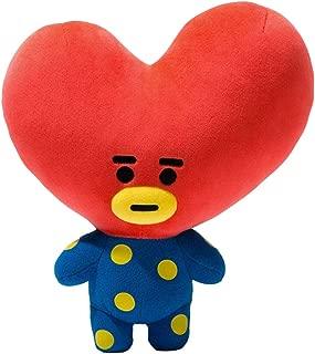 Kpop BTS Cushion Plush Doll Bangtan Boys Plush Cushion Pillow Warm Bolster Q Back Cute Cartoon Stuffed Doll Toy (Tata)