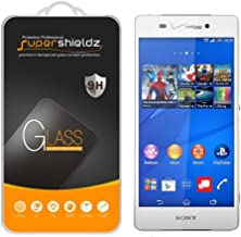 (2 Pack) Supershieldz for Sony Xperia Z3v Tempered Glass Screen Protector, Anti Scratch, Bubble Free