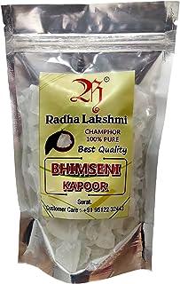 Radha lakshmi 100% NATURAL Bhimseni Camphor Transparent Flakes (Premium Bhimseni Kapoor Transparent Flakes, 100 gm X Pack ...