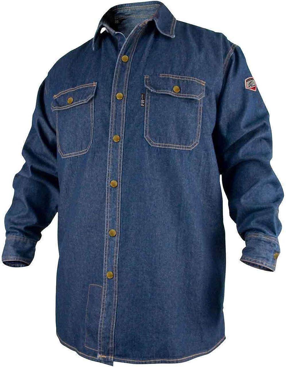 Revco FS8-DNM-XXL XX-Large Denim Fire Resistant Long Sleeve Cotton Welding Shirt