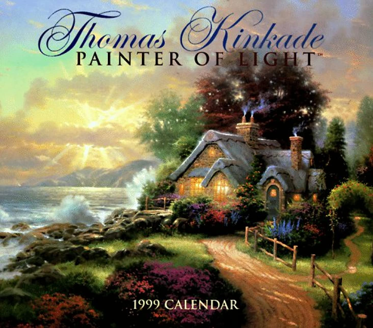 アマゾンジャングル軽減するクレデンシャルCal 99 Thomas Kinkade Painter of Light Calendar