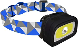 Hawk Headlamp Flashlight - 280 Lumen, Bright White Cree Led + Cob Led + Red Light + Green Light, Perfect for Runners, Lightweight, Waterproof, Adjustable Headband, 3 AAA Batteries Included