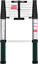 Toolitin 8.5FT Telescoping Ladder, Slow Down Design Aluminum Telescopic Extension Ladder, One Button Retraction Multi-Purpose Collapsible Ladder, 330 Lb Capacity