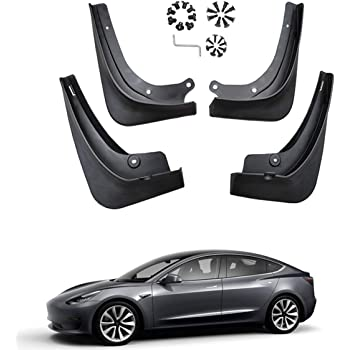 Jaronx Tesla Modell 3 Schmutzf/änger Spritzschutz for Tesla Model 3 Mud Flaps for Tesla Model 3 Mud Flaps