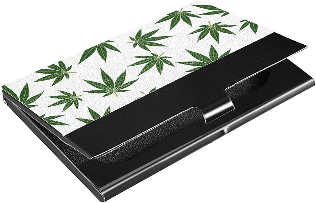 Light Stainless Courier shipping free Steel Marijuana Leafs Business Pattern service Cannabis