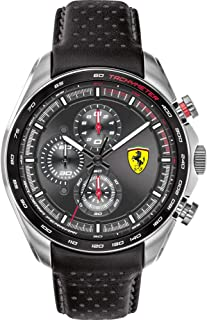 Ferrari 0830648 Speedracer 47 mm chronograph leather strap Men's watch