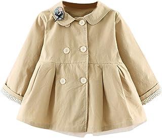 JIANLANPTT Baby Girls' Jackets Trench Coats Autumn Spring Cotton Infant Toddler Outwear