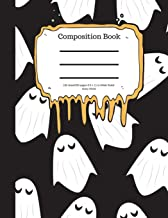 Composition Book 100 Sheet/200 Pages 8.5 X 11 In.-Wide Ruled- Scary Ghost: Halloween Notebook for Kids - Student Journal -...