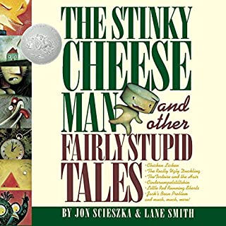 The Stinky Cheese Man audiobook cover art