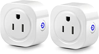 WiFi Smart Plug, Elepower 2 Pack Mini Smart Socket Compatible with Amazon Alexa and Google Home, No Hub Required, Control Devices from Anywhere